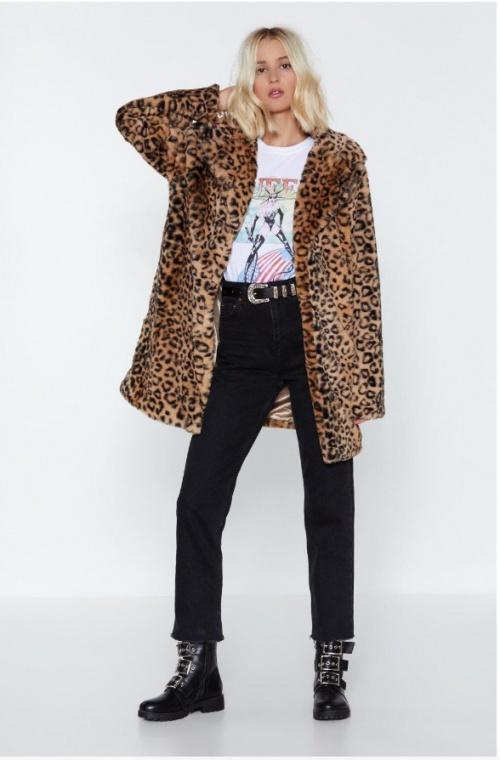 NastyGal - Manteau imprimé léopard
