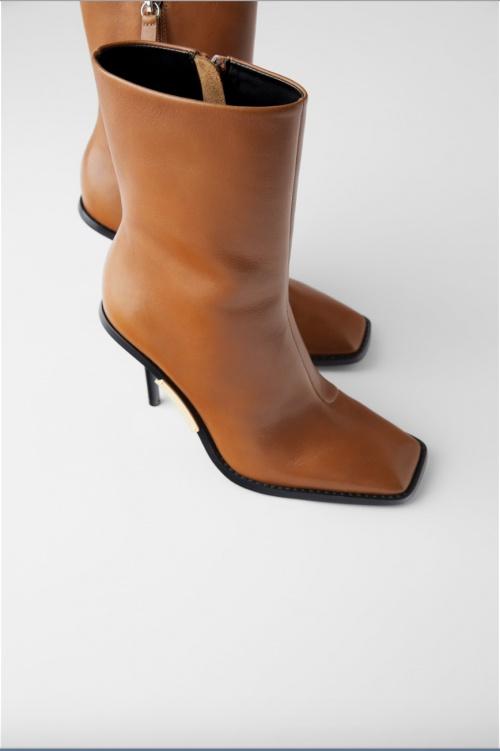 Zara - Bottines à bout carré