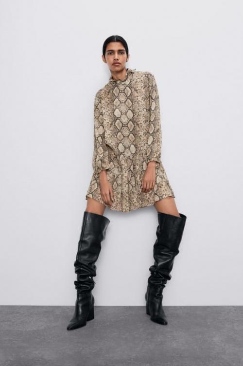Zara - Robe à imprimé python