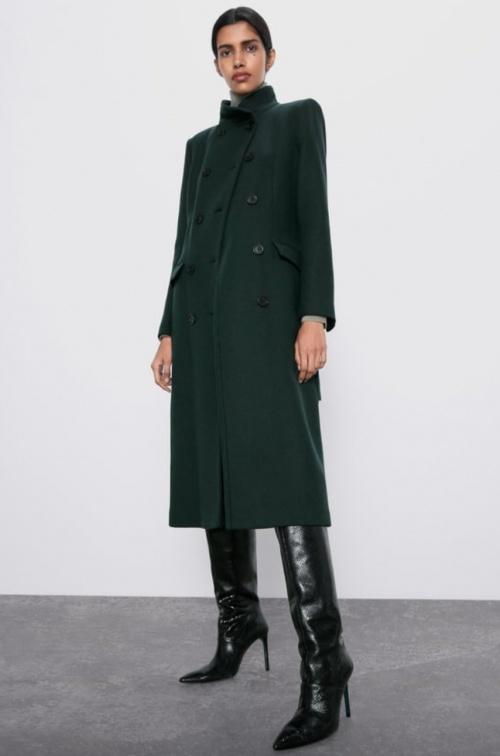 Zara - Manteau à col montant