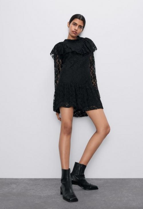 Zara - Robe courte dentelle
