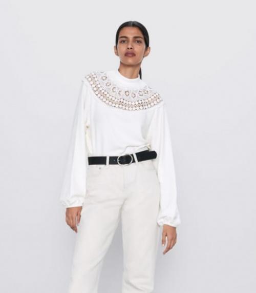 Zara - Top détails crochet
