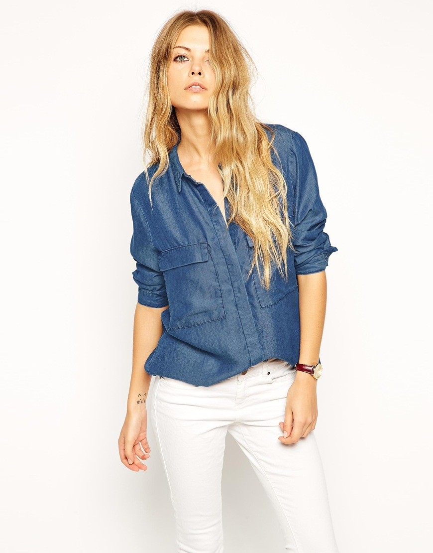 b18b7dd350f denim tencel shirt for women - Ecosia