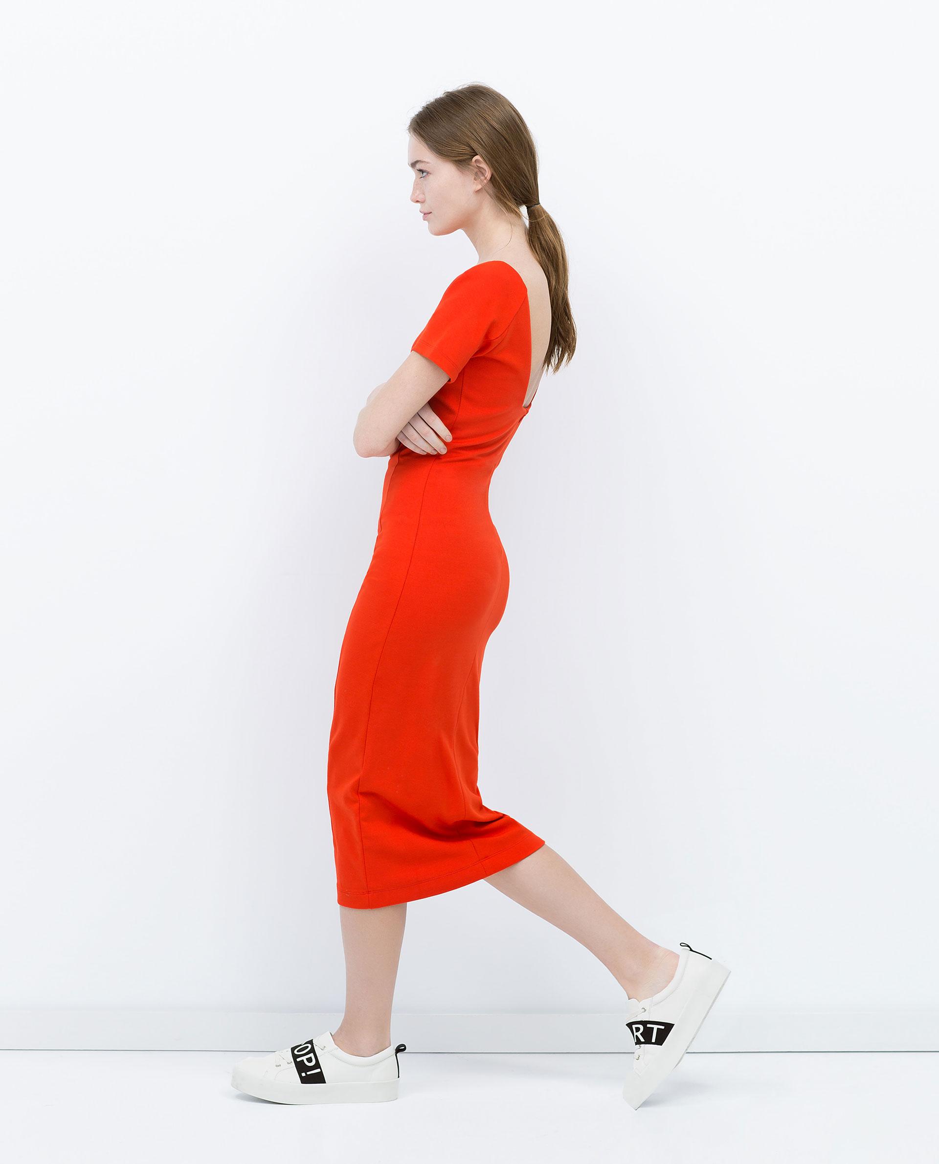 Robe rouge zara 2015