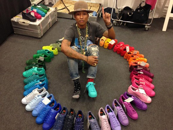 Pharrell x Adidas Superstar Supercolor