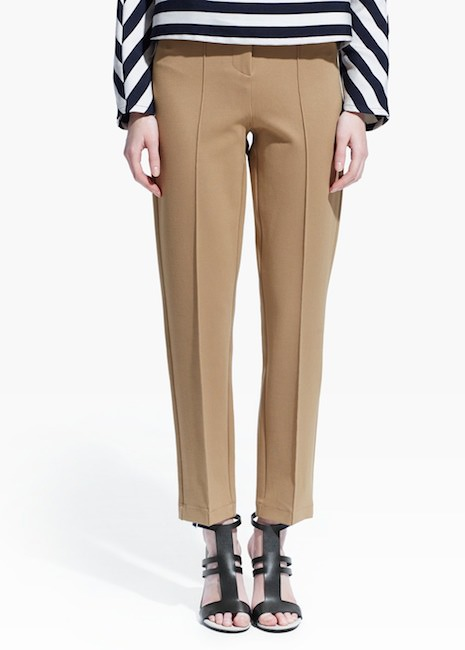 Mango - Pantalon en point de rome