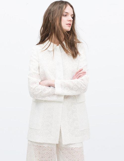 Zara - Manteau en dentelle