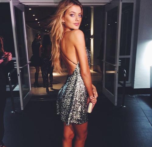 clubbeuse robe à strass argentées party girl