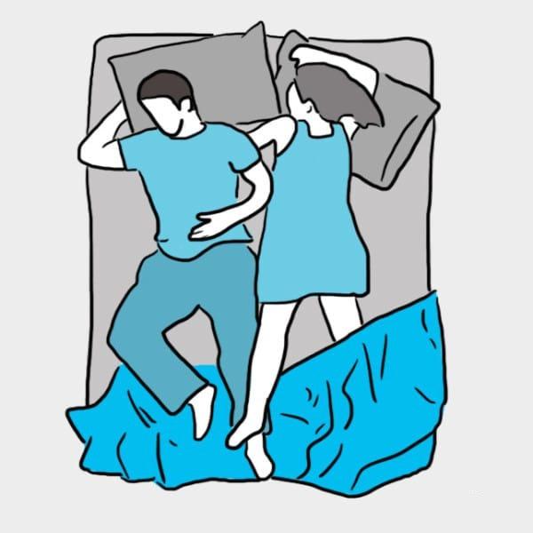Ce que r v le votre mani re de dormir deux les claireuses - Position du lit ...