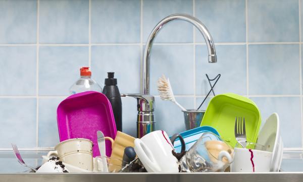pile de vaisselles
