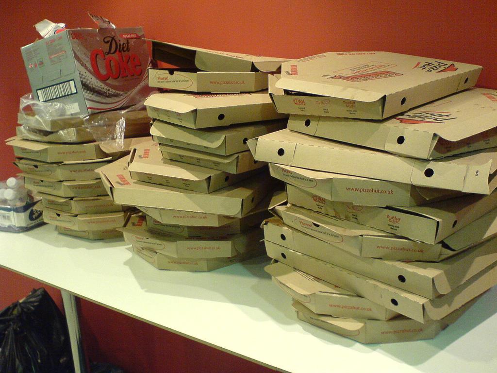 pizza empilées