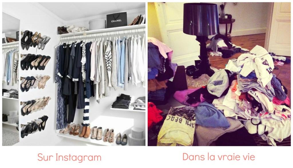 instagram vs vraie vie le dressing