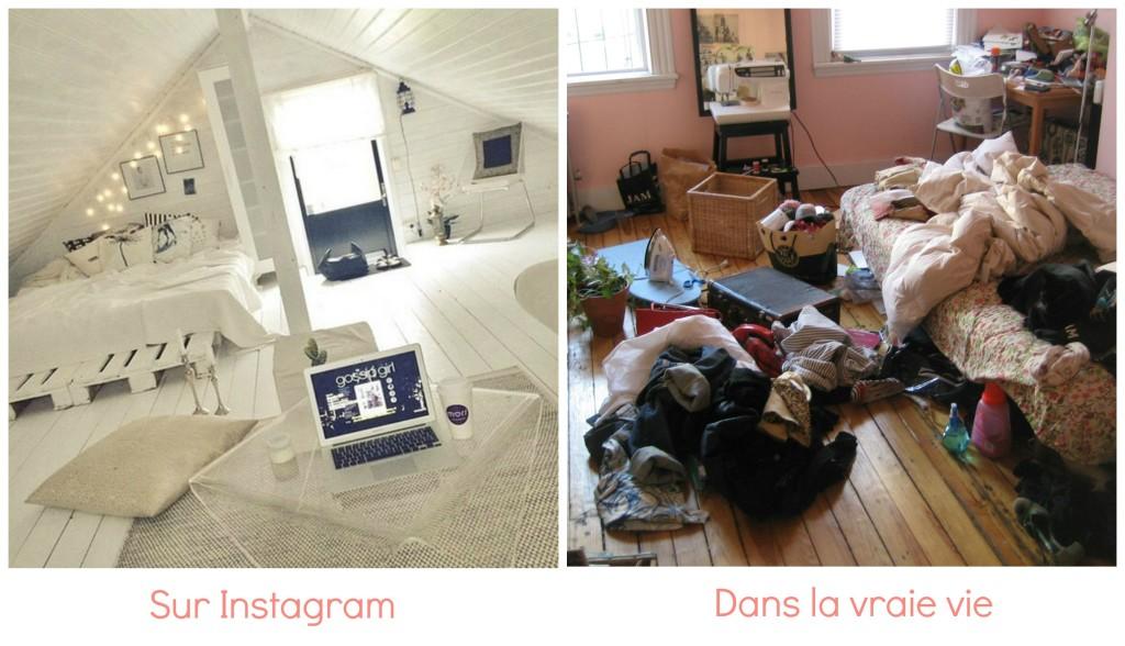 différence chambre instagram et réalité