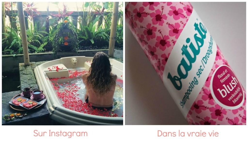 différence passage salle de bain instagram et vraie vie