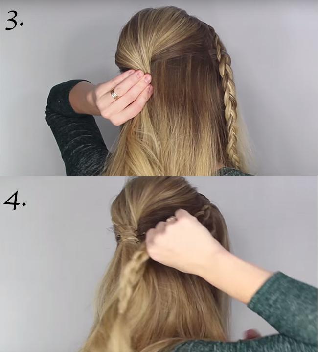 cheveux attache avec une pince