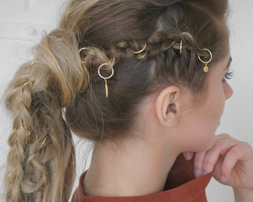 tutos coiffures piercing