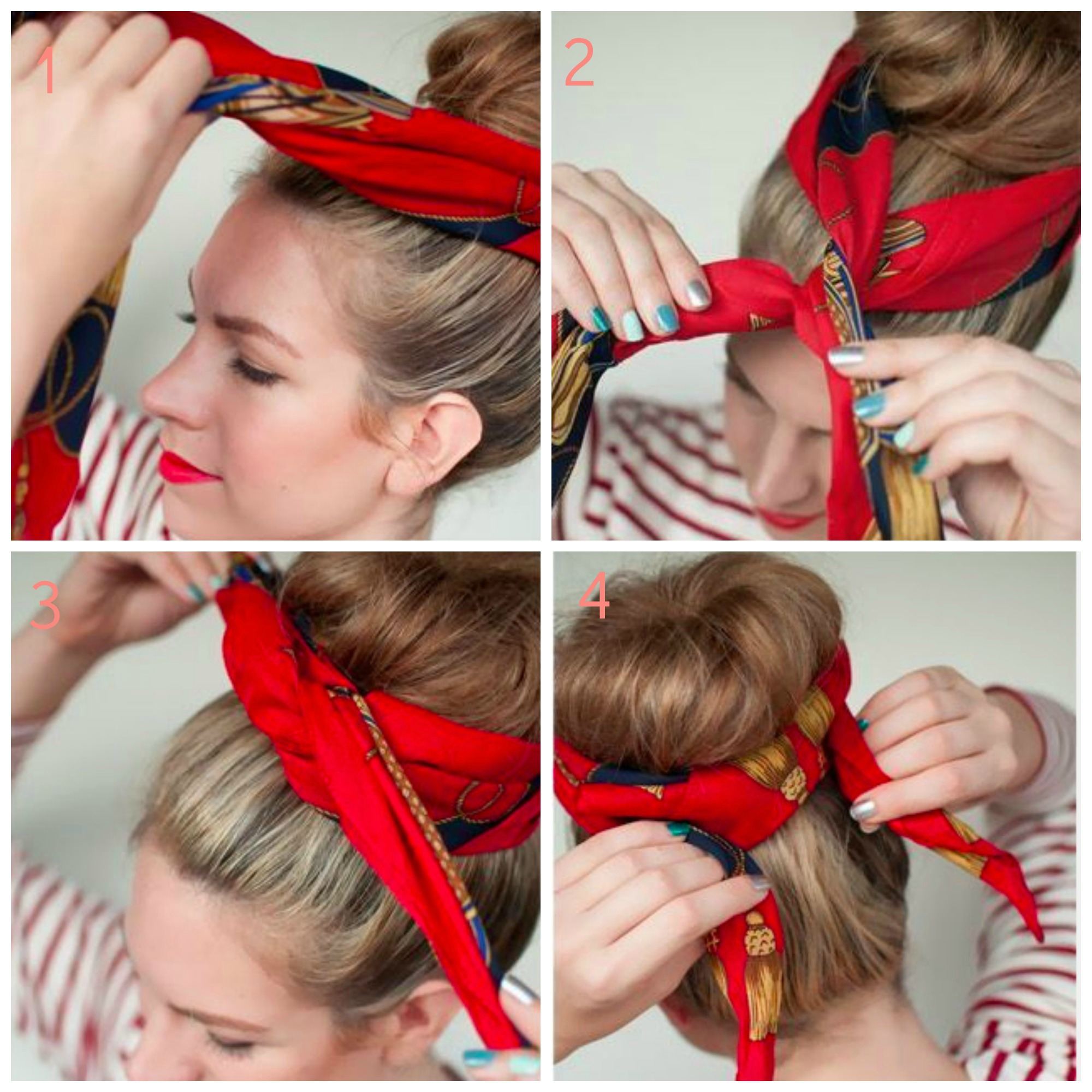 tuto coiffure avec un foulard