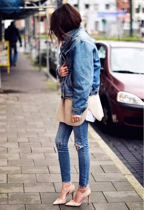 Veste jean femme porter