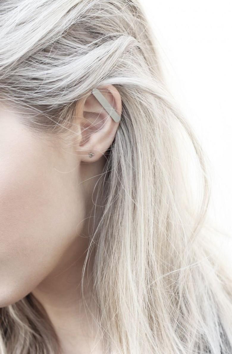 Cheveux gris sur blond