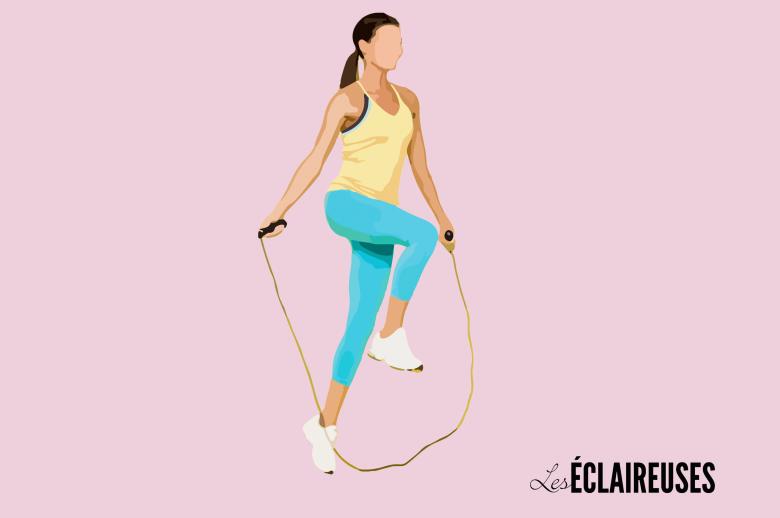 7 exercices rapides à faire à la corde à sauter