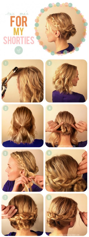 5 Tutos Coiffures Faciles A Faire Pour Les Cheveux Courts