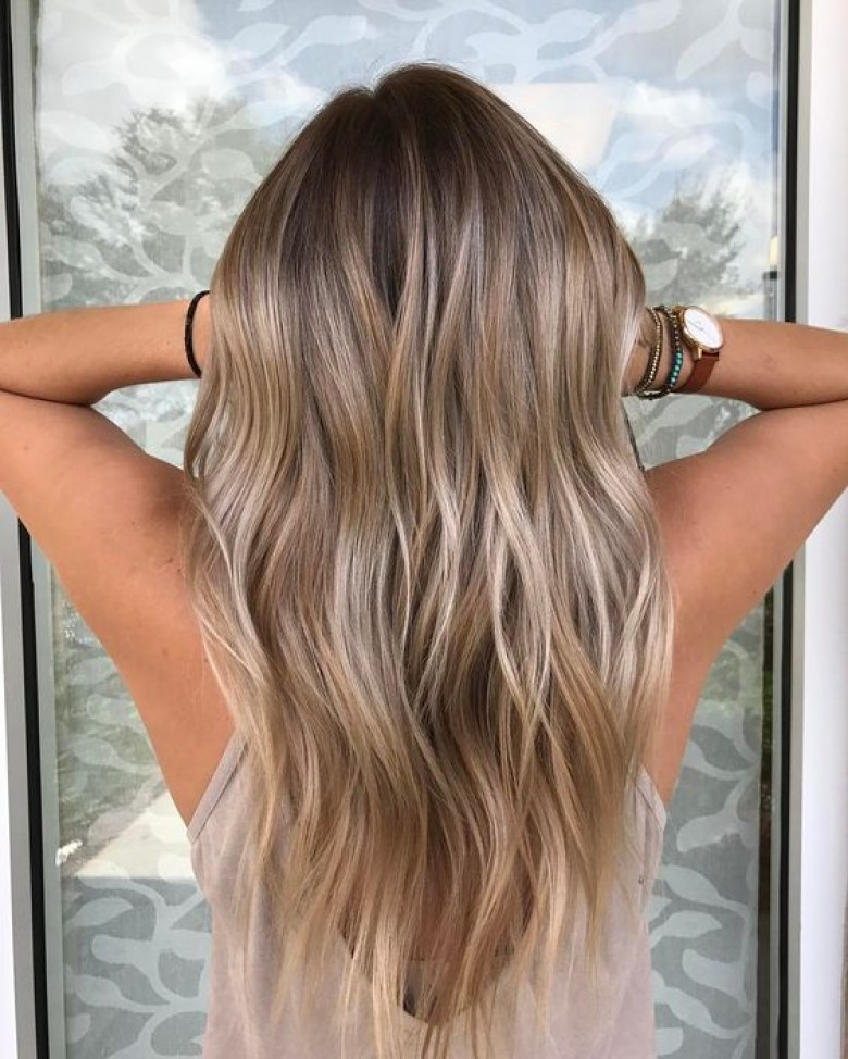 Balayage naturel cheveux bruns