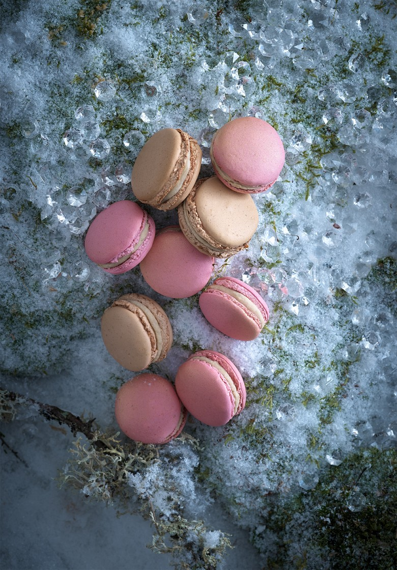 macarons marron & rose