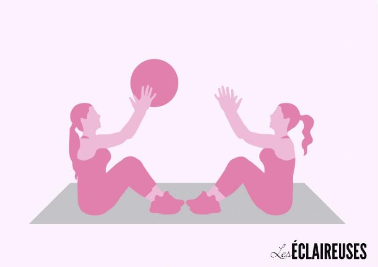 crunch ball exercice