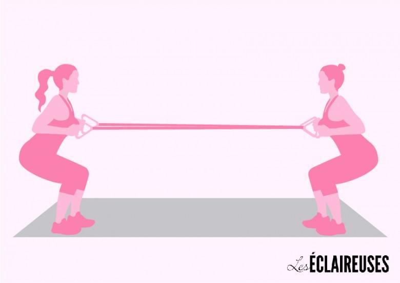 élastique exercice