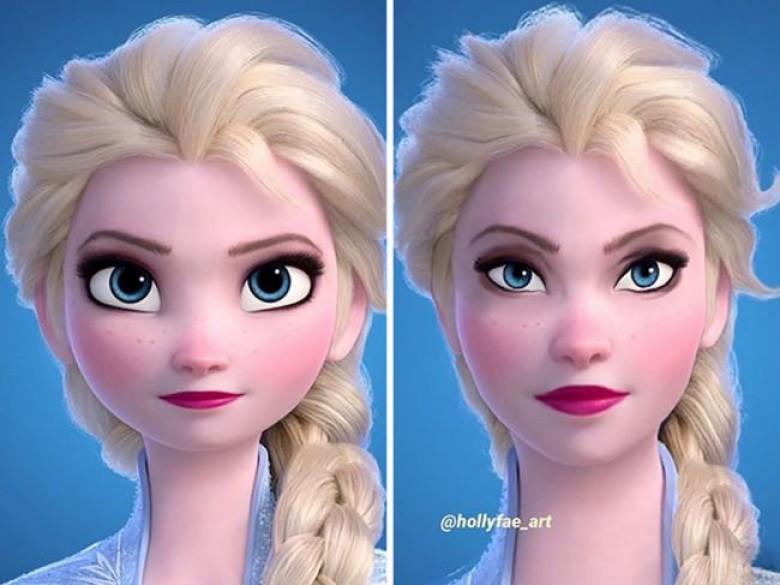 Princesses Disney : des visages plus réalistes  Princesses Disney : des visages plus réalistes