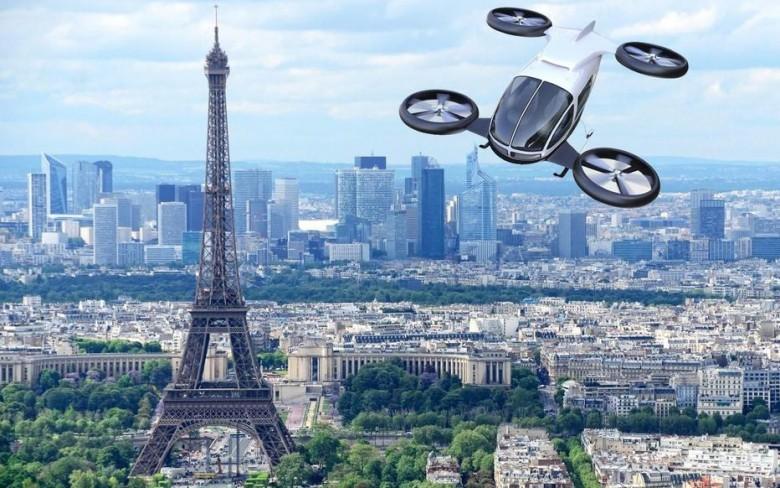 visuel d'un « eVTOL » à Paris, Istock