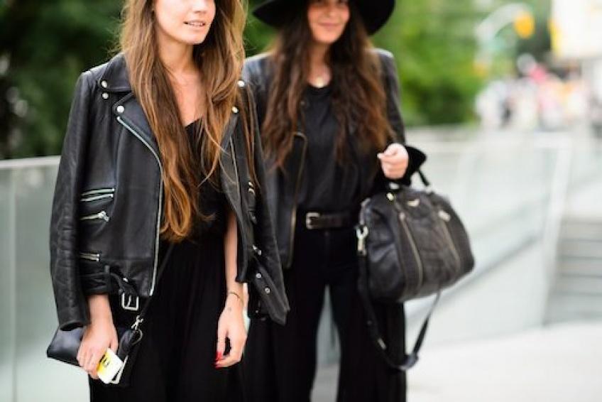 25 pièces en cuir noir pour un look rock
