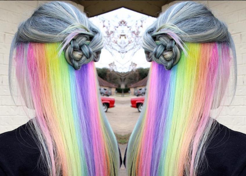 Tendance WTF : Les Underlight rainbow hair