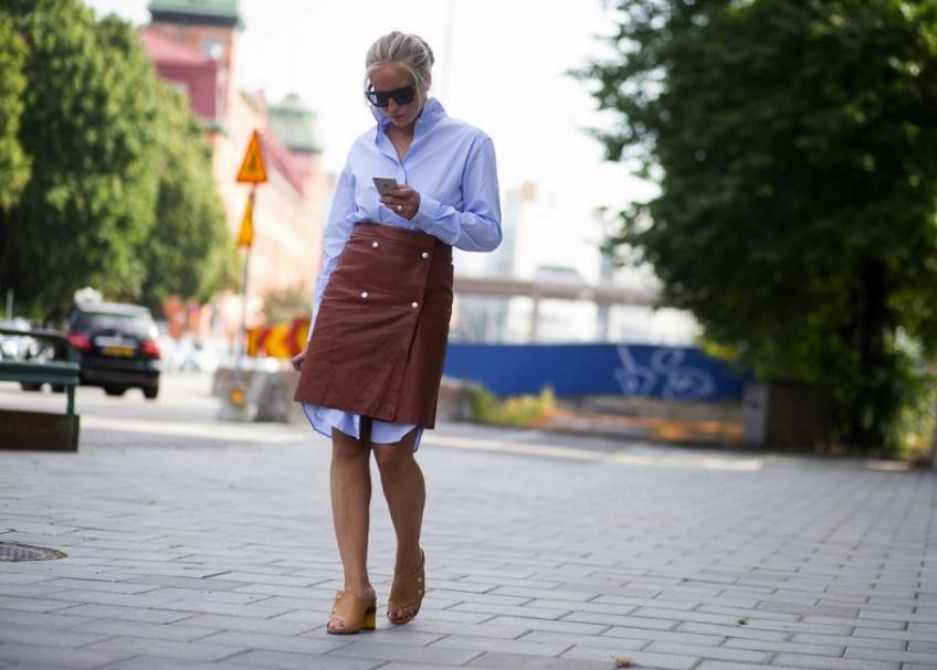 La plus belle façon de porter une jupe portefeuille