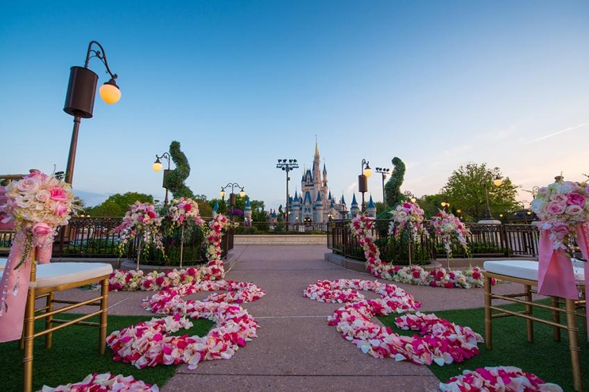 Que diriez-vous d'un mariage de princesse à Disneyland ?