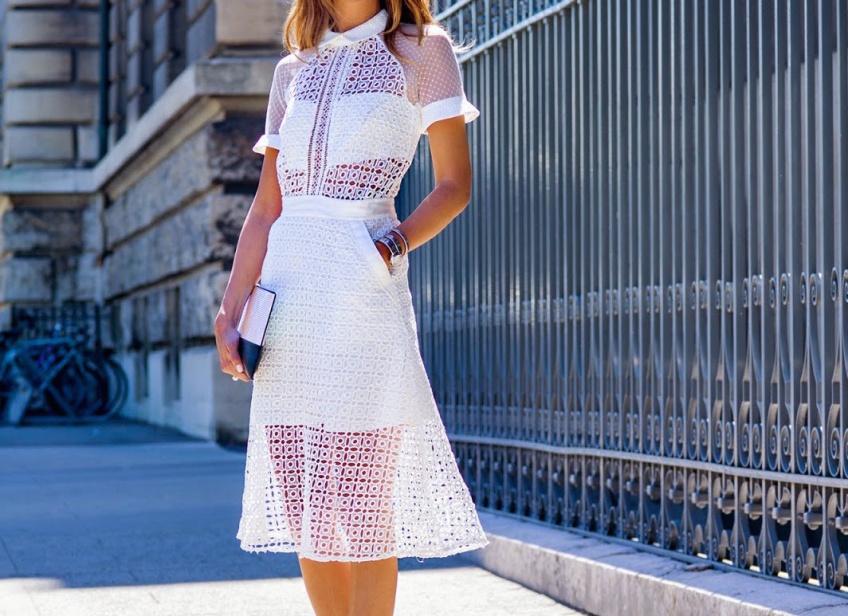 La robe blanche en dentelle, la pièce à absolument adopter cet été