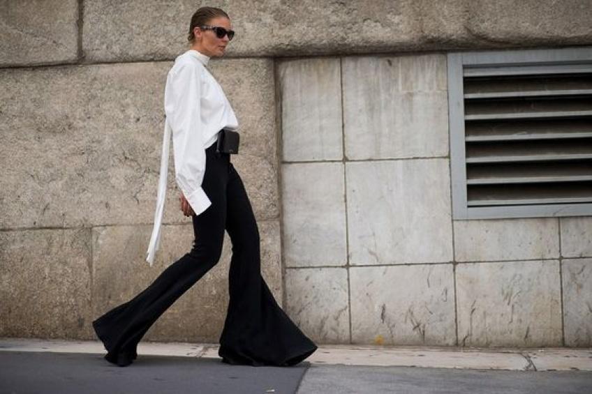 Le pantalon à ourlets volantés : must-have de l'année