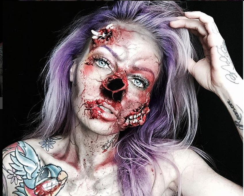 Sarah Mudle et ses incroyables transformations Make-Up pour Halloween