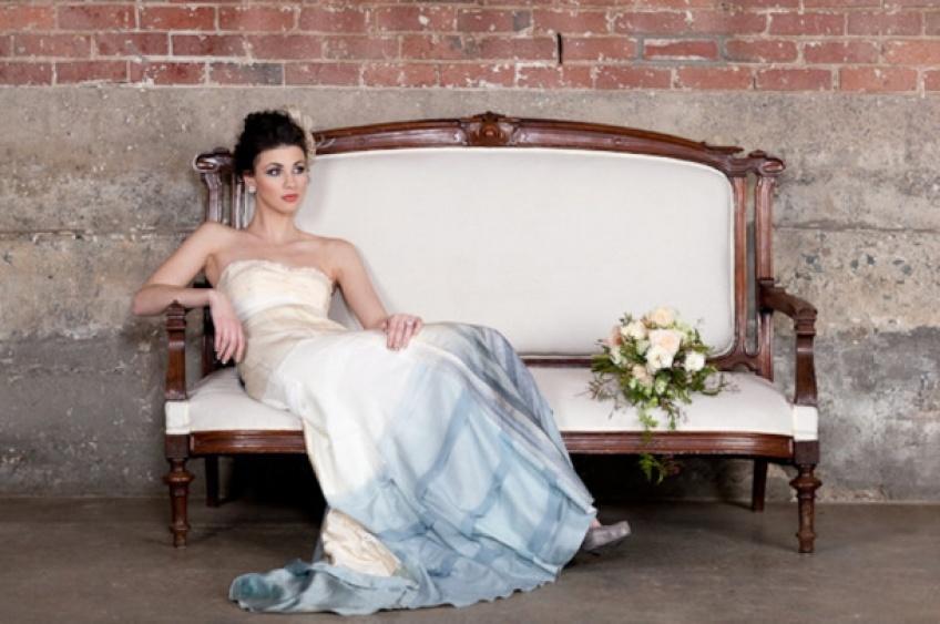 Dip Dye Wedding Dress : La robe de mariée tendance 2016 sera ombrée !