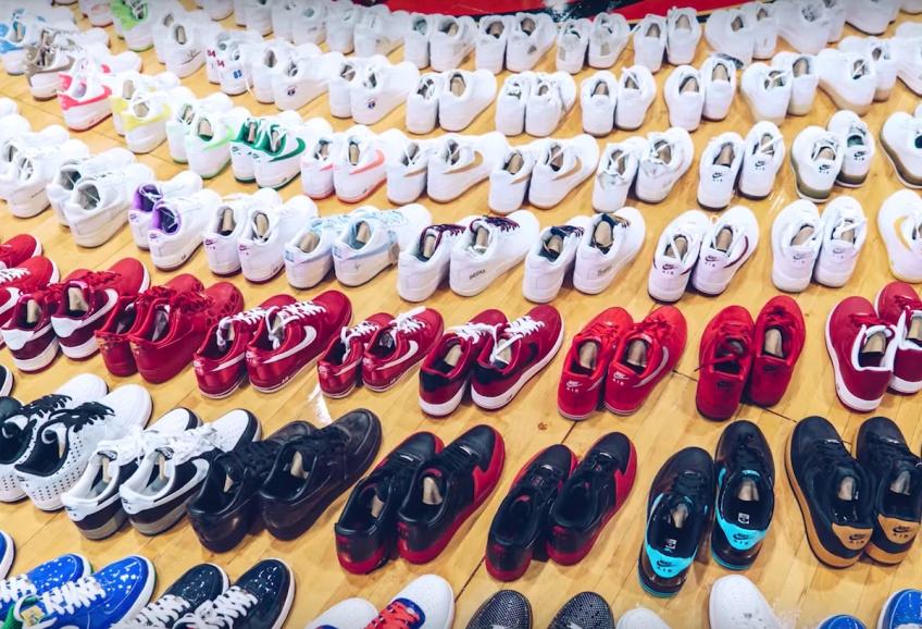 Découvrez la plus grosse collection de baskets que vous ayez jamais vue