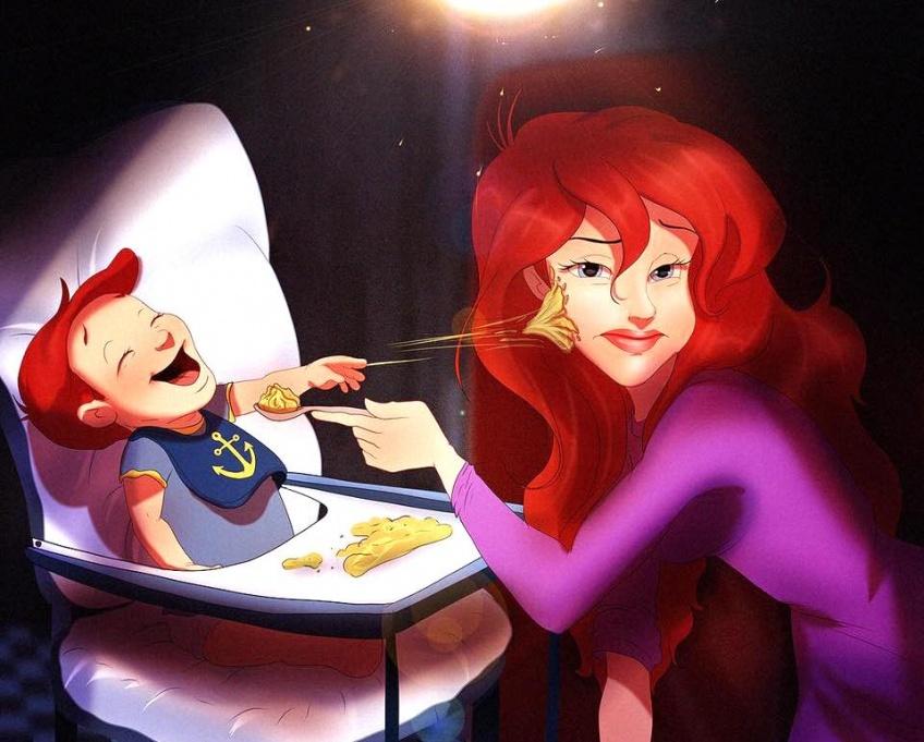 À quoi ressembleraient les Princesses Disney si elles avaient des bébés ?