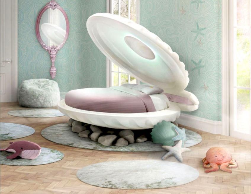 Que diriez-vous de dormir dans un lit-coquillage digne de La Petite Sirène ?