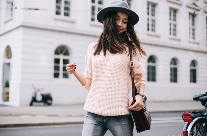 #Tendance : Associez le rose et le gris pour un look casual parfait !