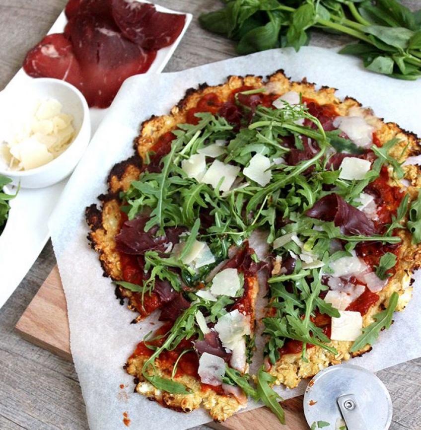 La pizza sans gluten et hypocalorique