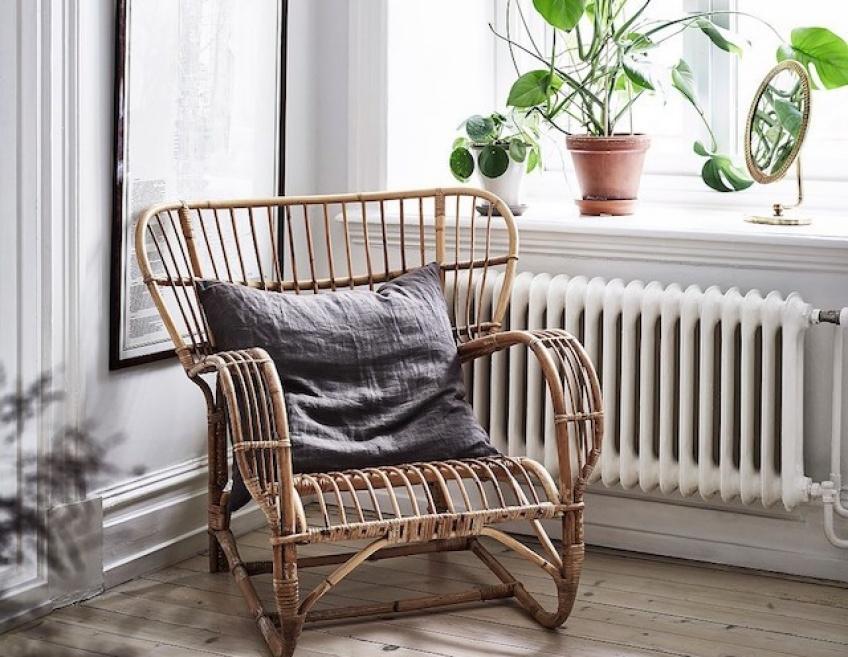 Back to the sixties avec un fauteuil en rotin hyper-stylé !