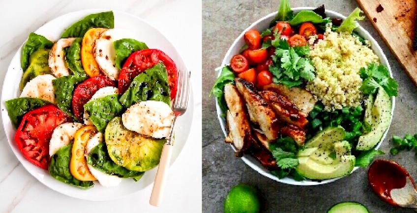 Toutes les combinaisons d'ingrédients possible pour préparer votre salade parfaite !