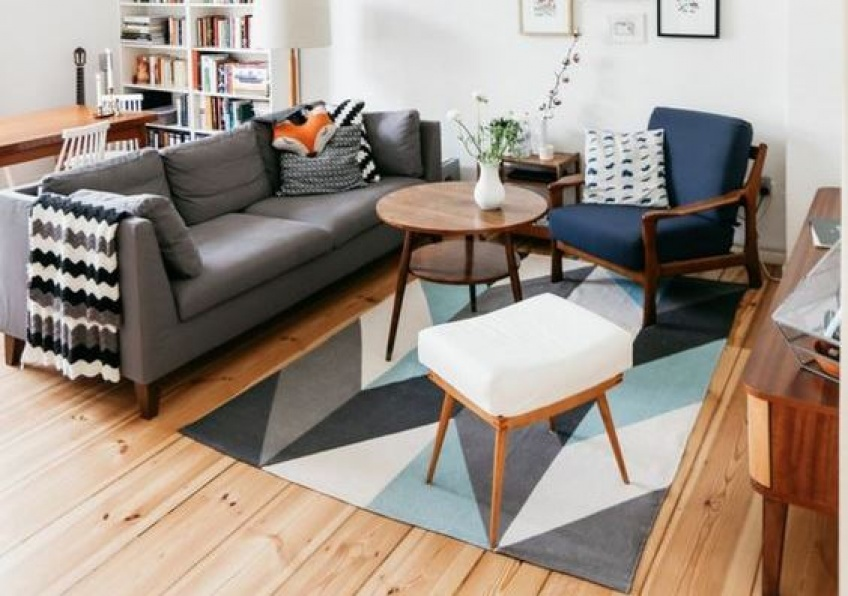Mettez une touche de géométrie à votre décoration avec un tapis au design graphique