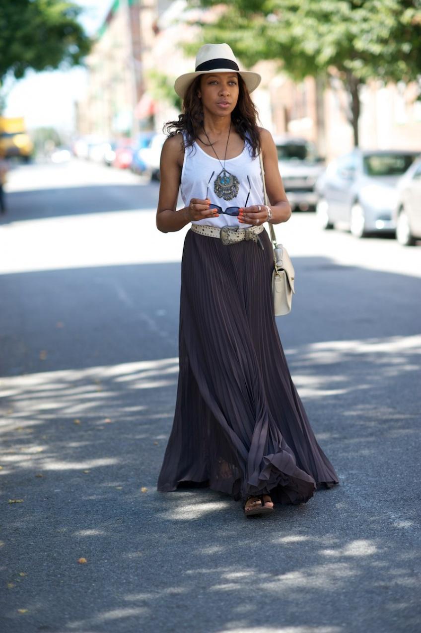 30 superbes jupes longues soldées qui vont allonger votre silhouette