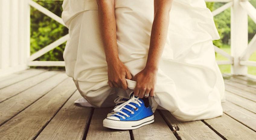 De sublimes inspirations qui vont vous donner envie de vous marier en baskets