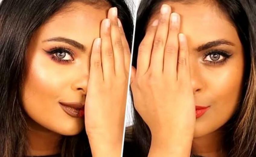 Une Youtubeuse montre les différences entre le make-up version US et version française